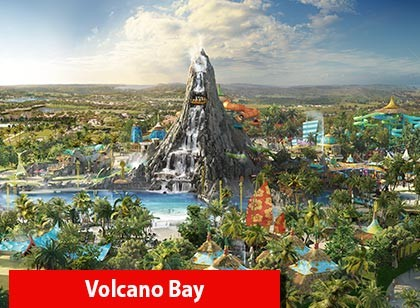 UNIVERSAL - 03 Park Explorer Ticket - Volcano Bay GRÁTIS (Ingresso eletrônico de 14 dias)